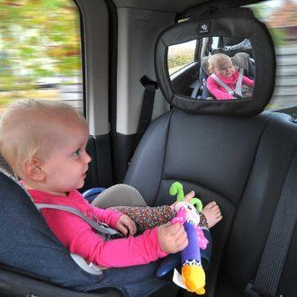 A3 Baby & Kids - Extra grote autospiegel - zwart
