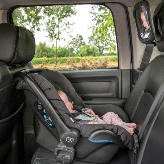 babyspiegel met ledverlichting