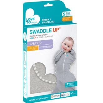 Stage 1 Swaddle UP 1.0 grey S BAMBOO