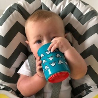 Tommee Tippee Super Cup oefen drinkbeker 6 maand + Blue