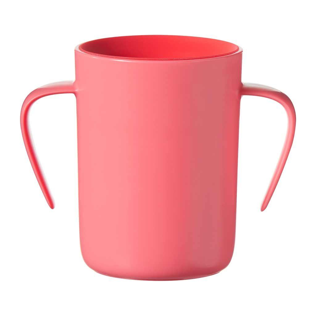 Tommee Tippee 360 Cup  anti lek drinkbeker met handvaten 6 maand+ (rood)