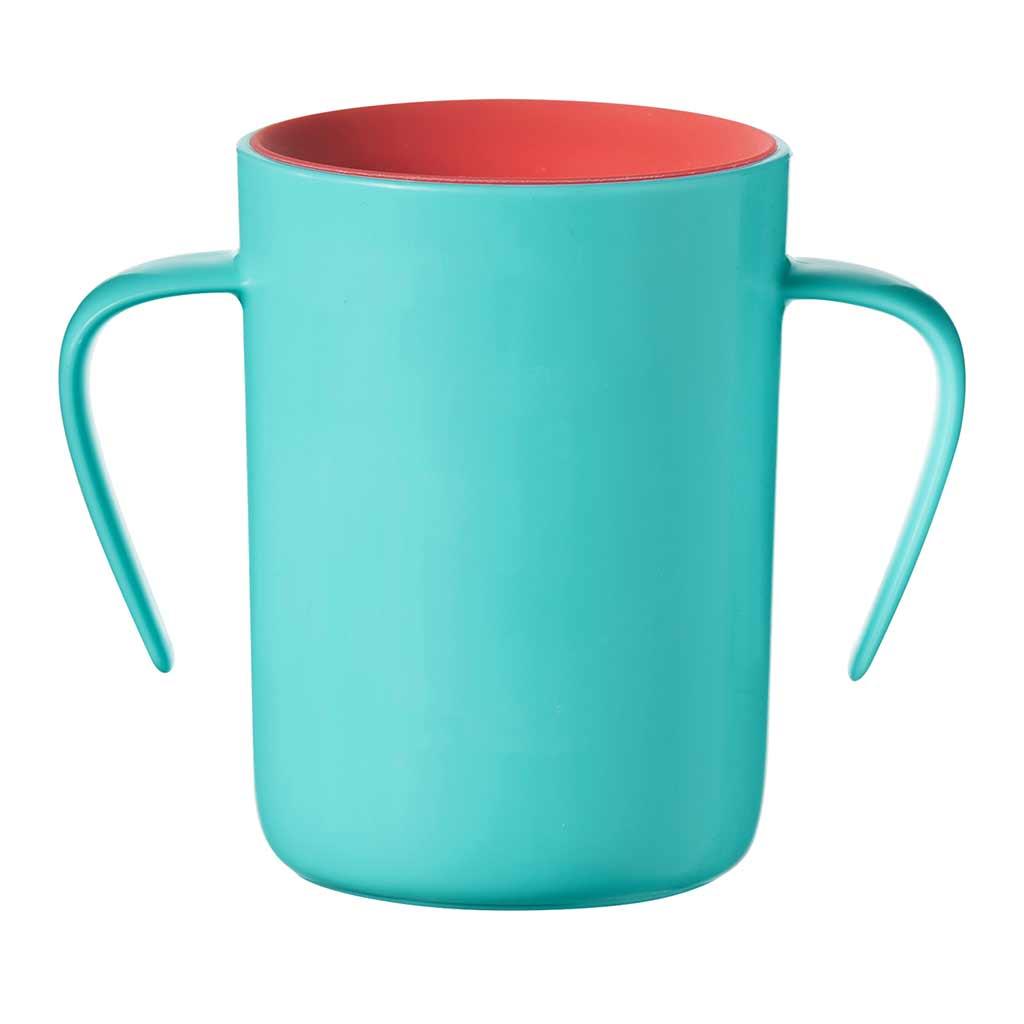 Tommee Tippee 360 Cup  anti lek drinkbeker met handvaten 6 maand+ (groen)