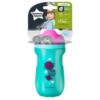 Tommee Tippee Insulated Straw Girl