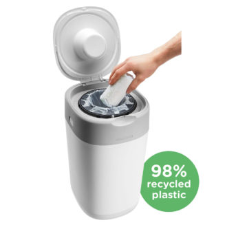 Tommee Tippee Twist & Click luieremmer wit ECO