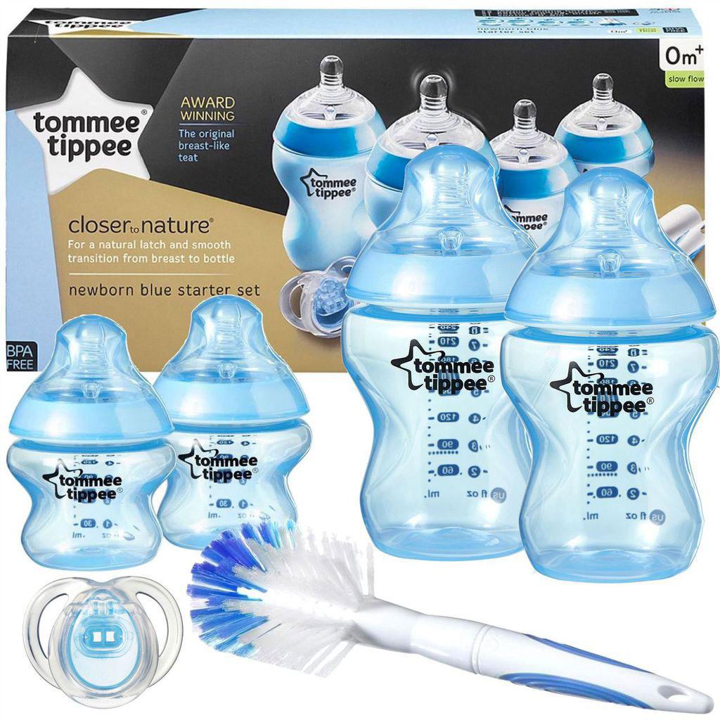 Tommee Tippee - Closer to Nature flessen starterset boy blauw